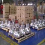 1-Instal·lacio de campanes LED en nau industrial