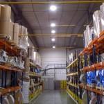 2-Instal·lacio de campanes LED en nau industrial