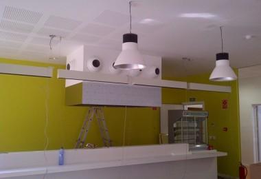 Realització de projecte d'activitats per a llicència ambiental d'un bar i cuina al Col·legi Montserrat de Barcelona. Legalització de les instal·lacions de gas i elèctrica.